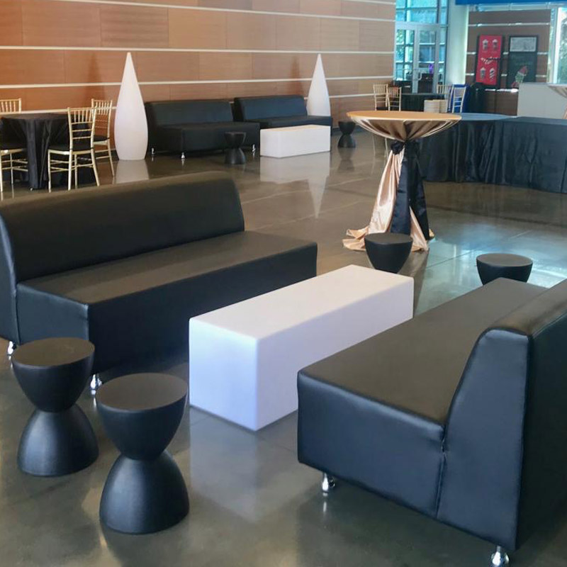 Black leather furniture